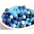 6mm Apaļa Mix Blue 50gab.
