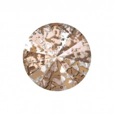 SWAROVSKI 1122 12mm Rivoli Fancy Stone Crystal Copper Ptina F 2gab.