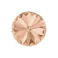 SWAROVSKI 1122 12mm Rivoli Fancy Stone Light Peach F 2gab.