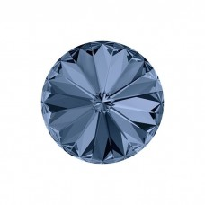 SWAROVSKI 1122 12mm Rivoli Fancy Stone Montana Blue F 2gab.