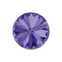 SWAROVSKI 1122 12mm Rivoli Fancy Stone Tanzanite F 2gab.
