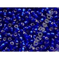 6/0 Toho Transparent Cobalt Blue Silver Line 06-28 (10g)