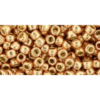 6/0 Toho Permanent Finish Galvanized Gold Rose 06-PF551 (10g)