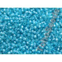 11/0 Toho Silver Lined Milky Aqua Blue 11-2117 (10g)