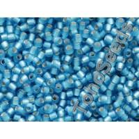 11/0 Toho Silver Line Matte Aqua Blue 11-23BF (10g)