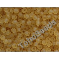 11/0 Toho Transparent Frosted Light Topaz 11-2F (10g)