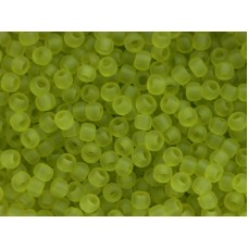 11/0 Toho Transparent Lime Green Frosted 11-4F (10g)