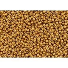 11/0 Toho Permanent Finish Galvanized Old Gold 11-PF591 (10g)
