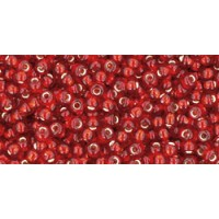 11/0 Toho Silver lined Ruby 11-25C (10g)