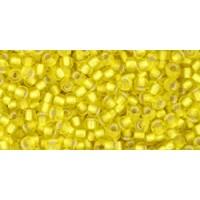 11/0 Toho Silver lined Lemon Yellow Matte 11-32F (10g)