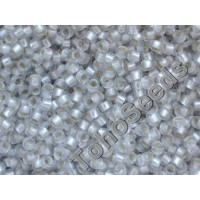 15/0 Toho Silver Lined Matte Crystal 15-21F (5g)