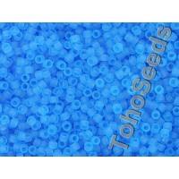 15/0 Toho Transparent Aqua Blue Frosted 15-3BF (5g)