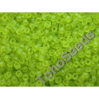 15/0 Toho Transparent Frosted Lime Green 15-4F (5g)