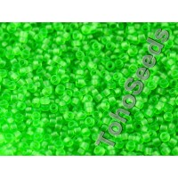 15/0 Toho Transparent Frosted Green 15-7F (5g)