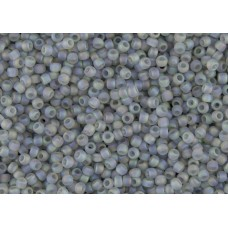 8/0 Toho Transparent Rainbow Frosted Gray 08-176AF (10g)