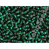 8/0 Toho Emerald Green Silver Lined 08-36 (10g)