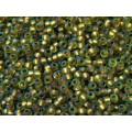 8/0 Toho Gold lined Matte Peridot 08-996F (10g)