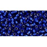 8/0 Toho Dark Aqua Blue Silver Lined 08-2206C (10g)