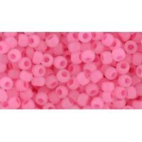 08/0 Toho Ceylon Matte Hot Pink 08-910F (10g)