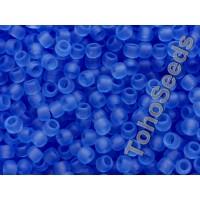 8/0 Toho Transparent Matte Sapphire Blue 08-13F (10g)