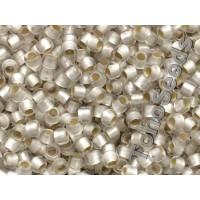 8/0 Toho Silver lined Matte Crystal 08-21F (10g)