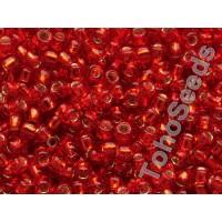 8/0 Toho Silver lined Siam Ruby 08-25B (10g)