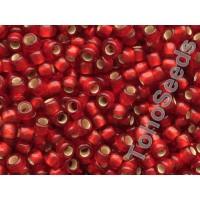 8/0 Toho Silver lined Matte Ruby 08-25CF (10g)