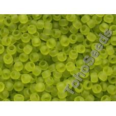 8/0 Toho Transparent Matte Lime Green 08-4F (10g)