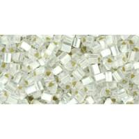 11/0 Toho Triangle Silver lined Matte Crystal TG-11-21F (10g)