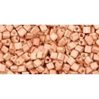 11/0 Toho Triangle Metallic Matte Rose Gold TG-11-551F (10g)