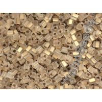 11/0 Toho Triangle Matte Crystal Gold Line TG-11-989F (10g)