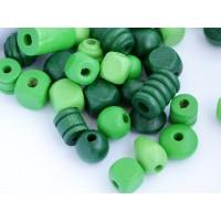 Koka pērles Liels Mix Zaļas 50g