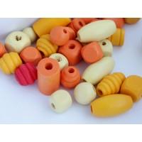 Koka pērles Liels Mix Oranža 50g